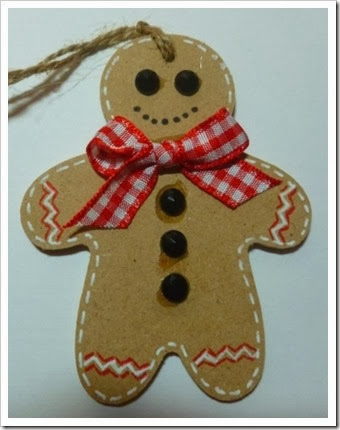 Gingerbread man wooden tag