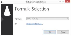 Selección de fórmula