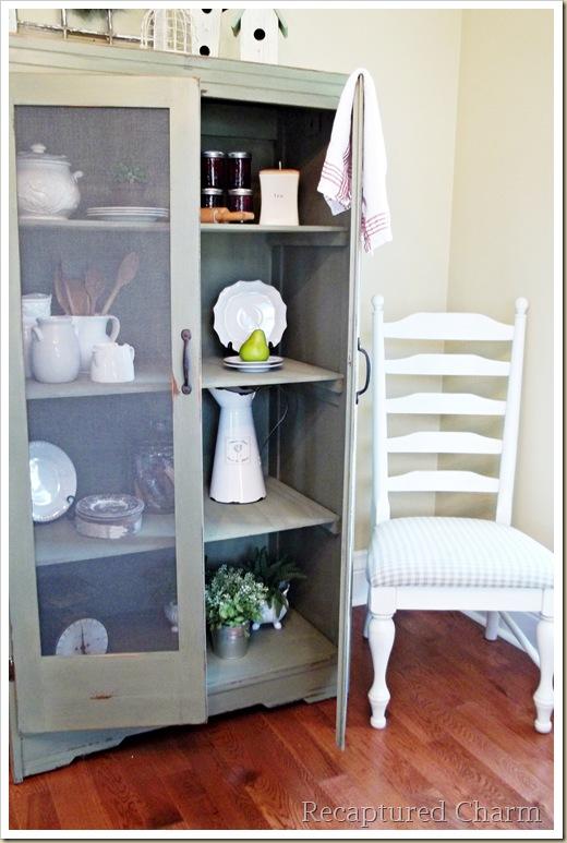recaptured charm: armoire redo in milk paint