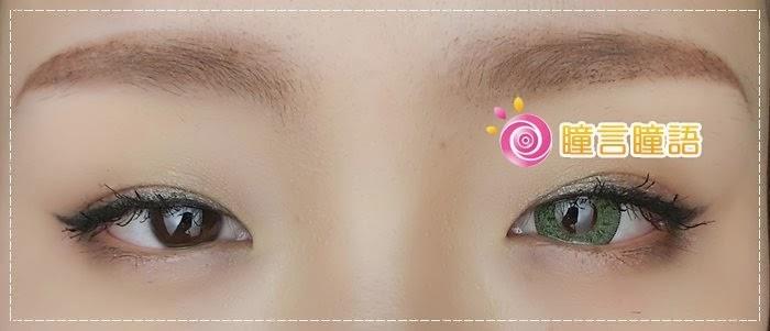 韓國GEO隱形眼鏡-GEO Sparkling 火花四色綠009