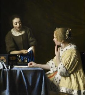 vermeer mistress and maid