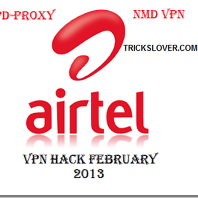 Airtel 2G-3G free net on PC February 2013 updated