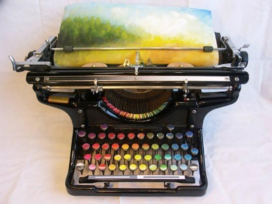 Máquina de escrever pinturas 01