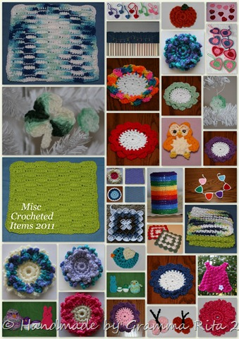 Misc Crocheted Items Collage 2011-1