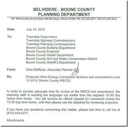 proposed wind farm ordinance--a