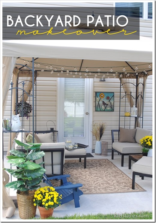 An easy backyard patio makeover