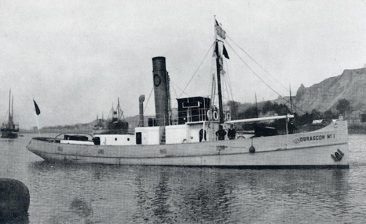 El remolcador OBRASCON Nº 1. Foto tomada del libro LA INDUSTRIA NAVAL VIZCAINA.JPG