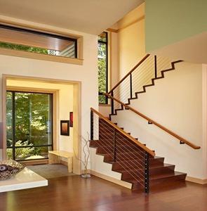 Residencia port ludlow nils finne washington arquitexs for Bajo escaleras de madera
