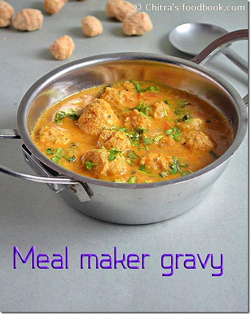 soya chunks gravy