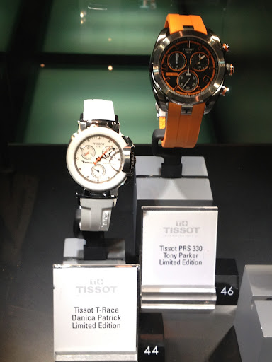 Danica Patrick and Tony Parker both collaborate with Tissot on watches. These are great if you are going on a high-action honeymoon.