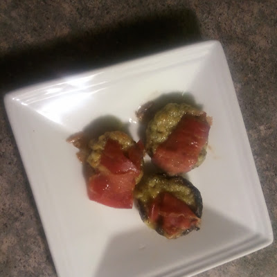 Stuffed Mushrooms with Proscuitto and Goat Cheese