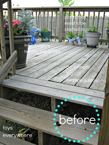 patio before