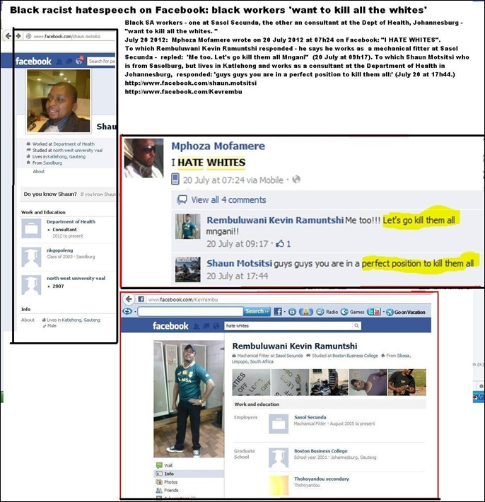 SASOL SECUNDA SUMMARY BLACK WORKERS WANT TO KILL ALL THE WHITES facebook
