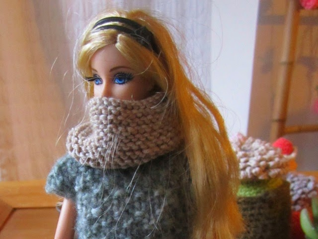 snood poupée barbie pure laine merinos