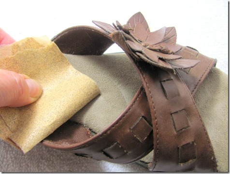 sandpapering shoe