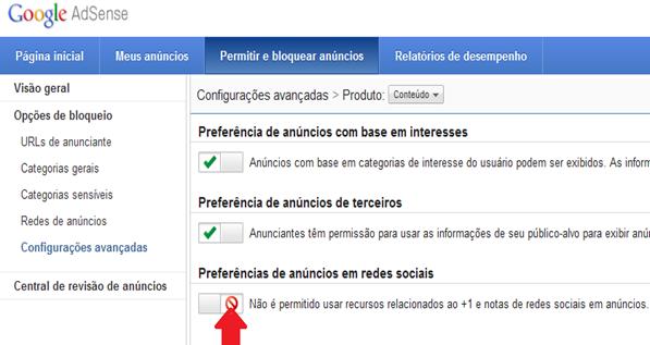 Como remover boto Google 1 em anncios Adsense
