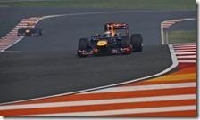 Vettel nelle prove libere del gran premio d'India 2012