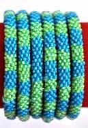 Rollover bracelet blue green