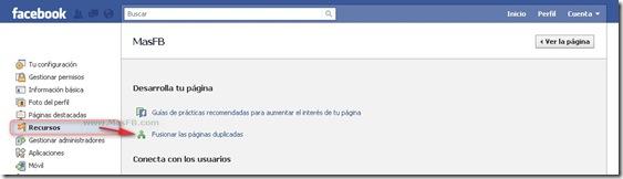 Fusionar paginas duplicadas FB