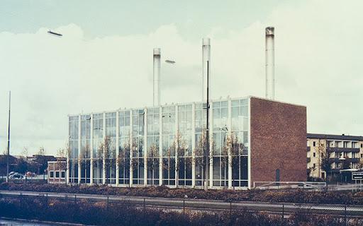 Uppsalas första fjärrvärmeverk i Kvarngärdet