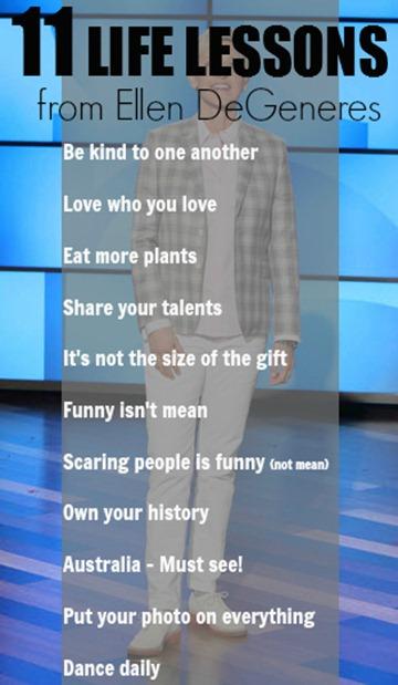 Ellen DeGeneres Life Lessons