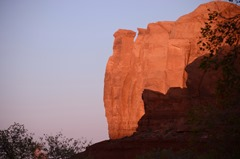 Near sunset brings the colors out of the rock formations