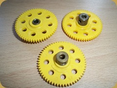 Yellow Gear Wheels