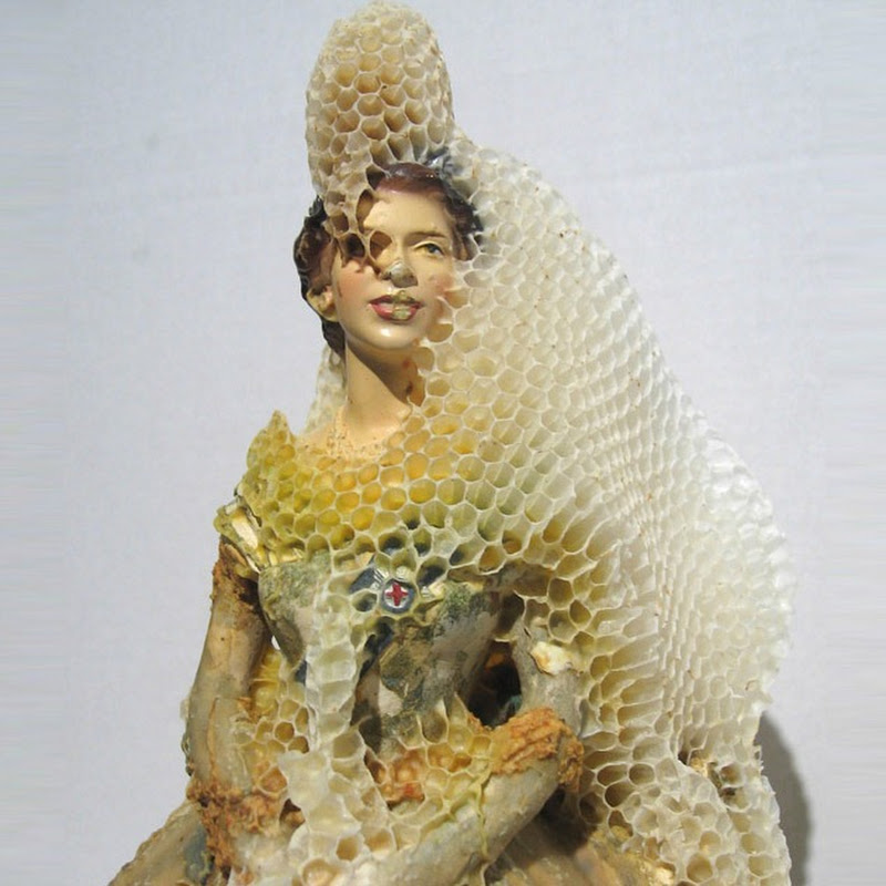 Sculptures Made From Honeycombs by Aganetha Dyck