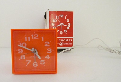 Seth Thomas Minicube alarm clock, with box