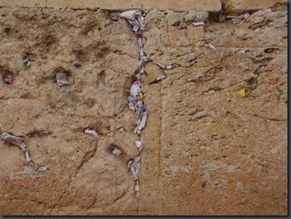 Jerusalem  prayers and wishes between the kotel stones Ann Goldberg