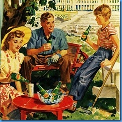 Retro Family outside