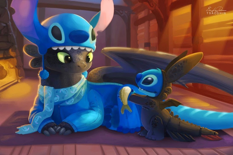 Stitch and Toothless by TsaoShin on deviantArt