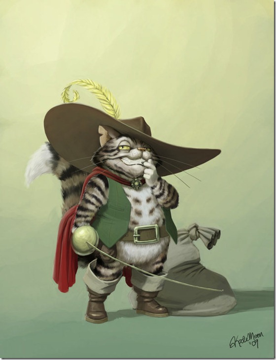 El Gato con Botas,El gato maestro,Cagliuso, Charles Perrault,Master Cat, The Booted Cat,Le Maître Chat, ou Le Chat Botté (19)
