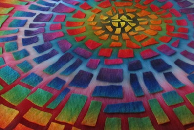Mosaik in Arbeit