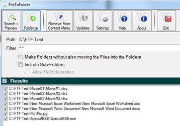 File To Folder Organizer