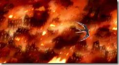 Howls Moving Castle Burning City