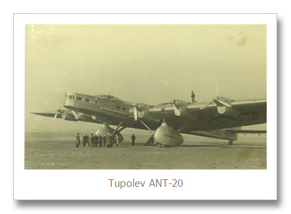 Tupolev ANT20 Old Aircfraft