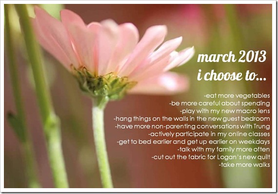 March I Choose