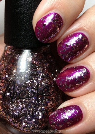 Nicole by OPI Inner Sparkle over Pretty in Plum
