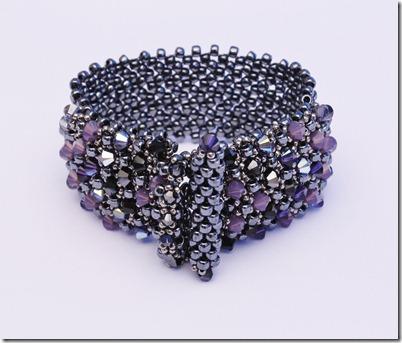 Industrial Chic Bracelet Callie Mitchell Beadwork magazine swarovski crystal