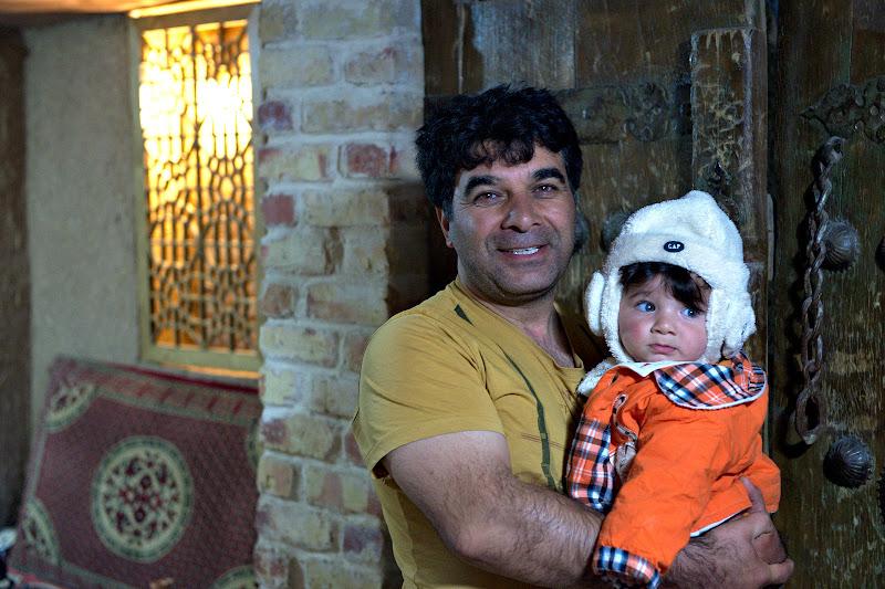 Acasa la Majeed, cicloturistul din Abhar.