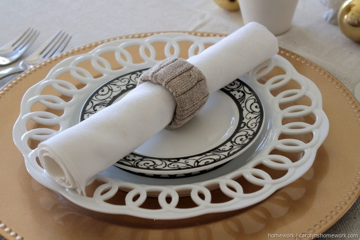Upcycled Sweater Napkin Rings via homework (4)