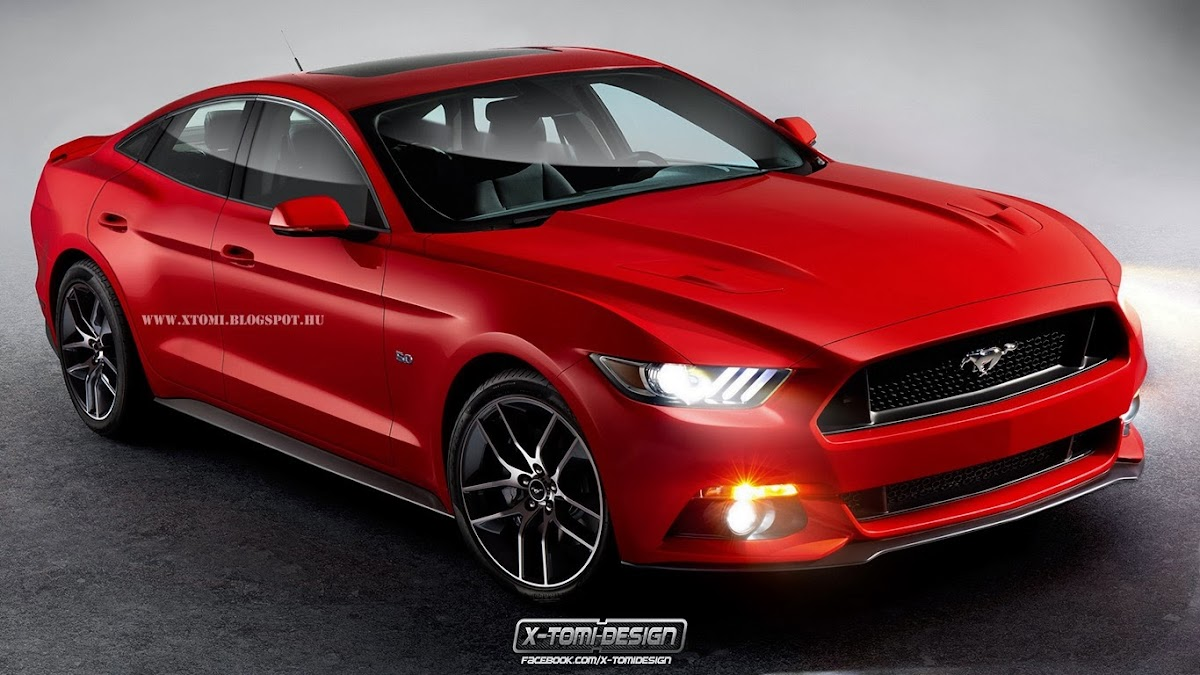 Ford Mustang Sedan2 & All-New 2015 Ford Mustang Rendered as a Four-Door Coupe Pezcame.Com
