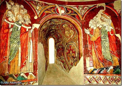 Frescos de San Martín de Artáiz en el Museo de Navarra