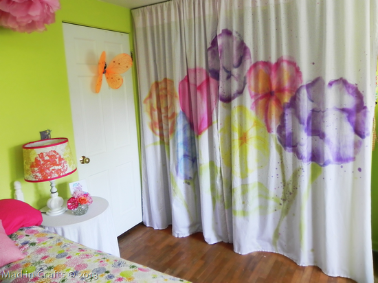 Watercolor Closet Curtains