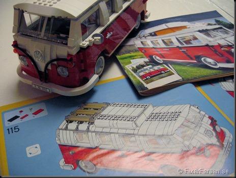 Byggbeskrivning 115 sidor - Lego 10220 Volkswagen T1 Camper Van Bilder
