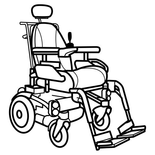 Dibujos para colorear sillas de ruedas for Sillas para dibujar
