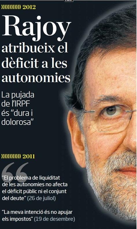 Rajoy establiment de la messorga de dreita