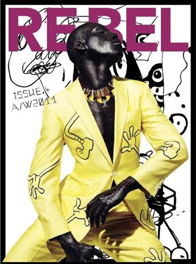 Tafari Hinds by Daniel Sannwald for Re-Bel magazine #4,  F/W 2011.  Styled by Rasharn Agyemang.