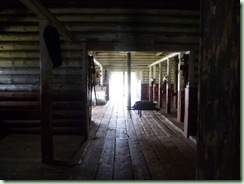 Fort Walsh horse barn